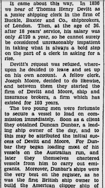 A closer look at the newspaper article detailing Devitt's early days