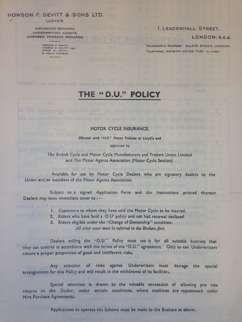 The D.U. policy document