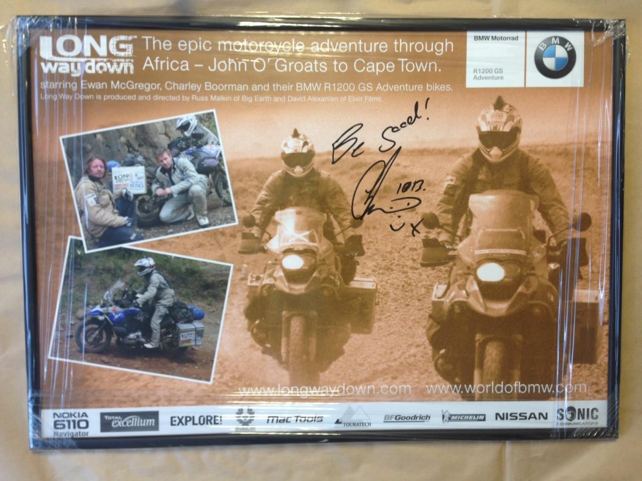 Signed framed poster