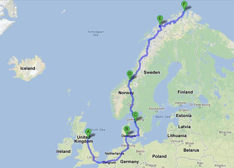 Arctic Ride Route