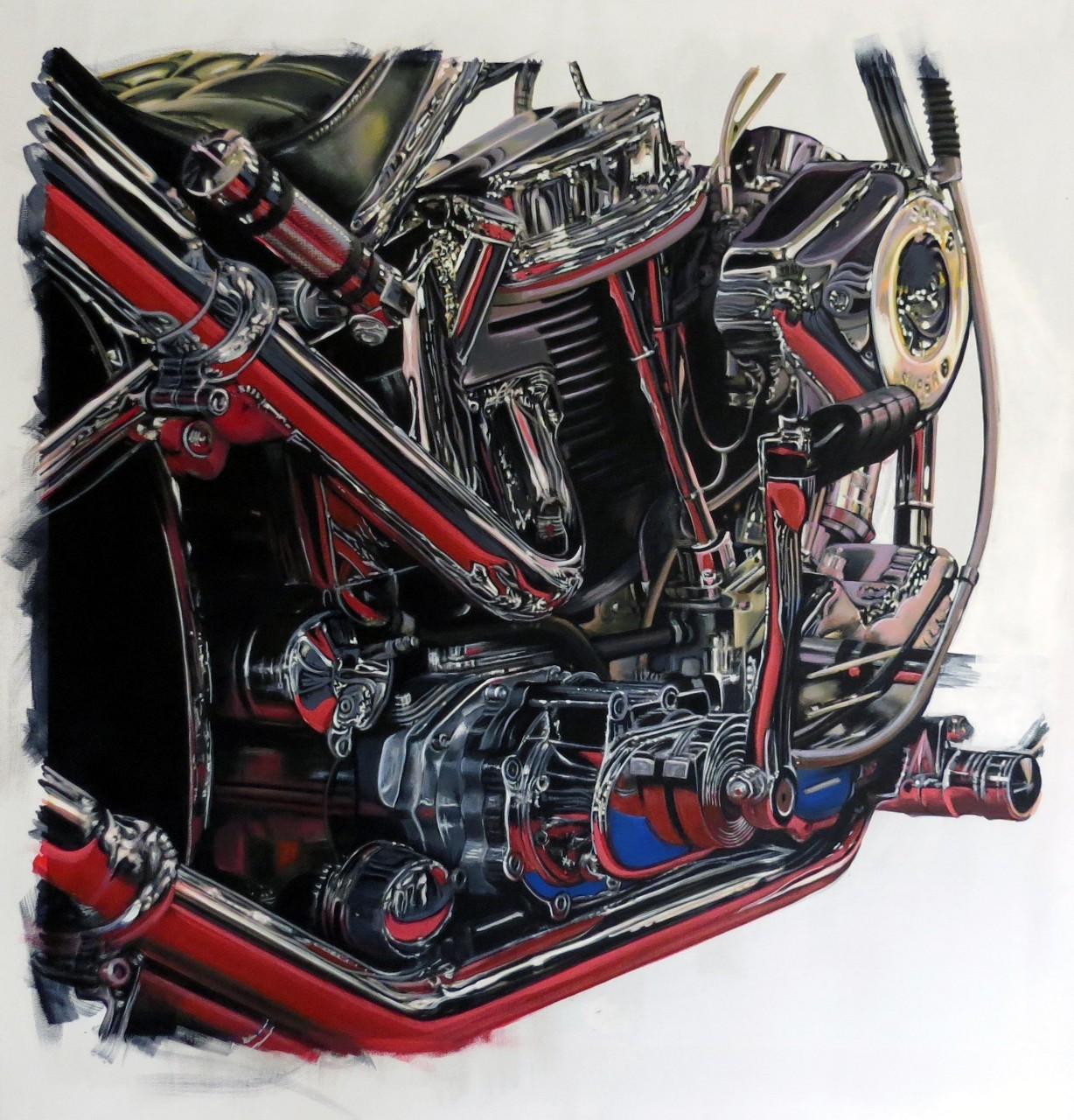 custom engine painting by Mike Brown