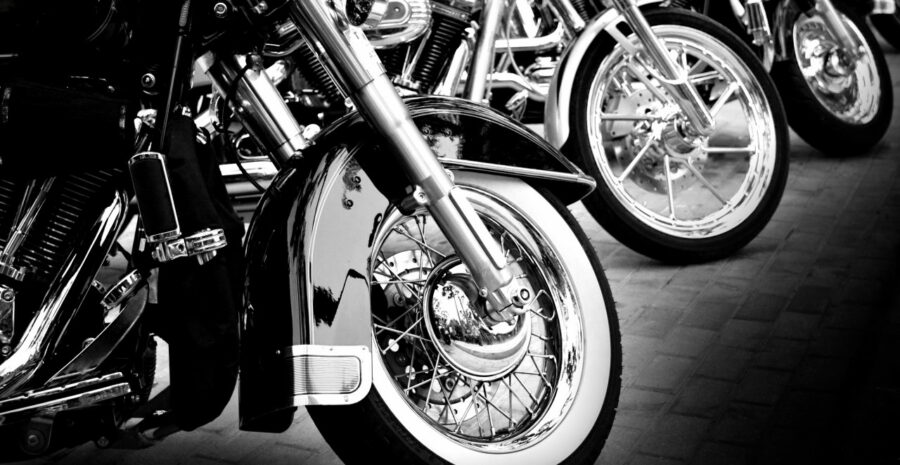 motorbikes-black-and-white