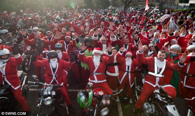Santa's on a bike