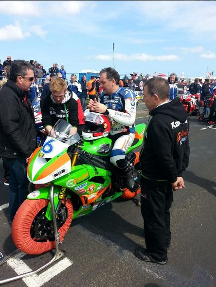 Michael Rutter prepares for Supersport Qualifying