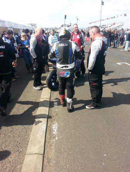 Michael Dunlop preparing to go on track