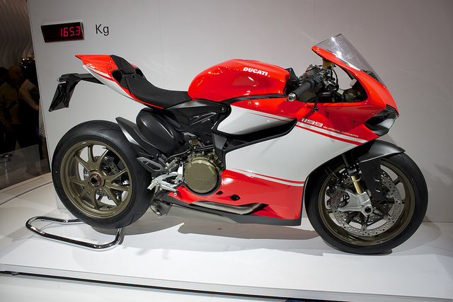 Red Ducati 1199 Superleggera