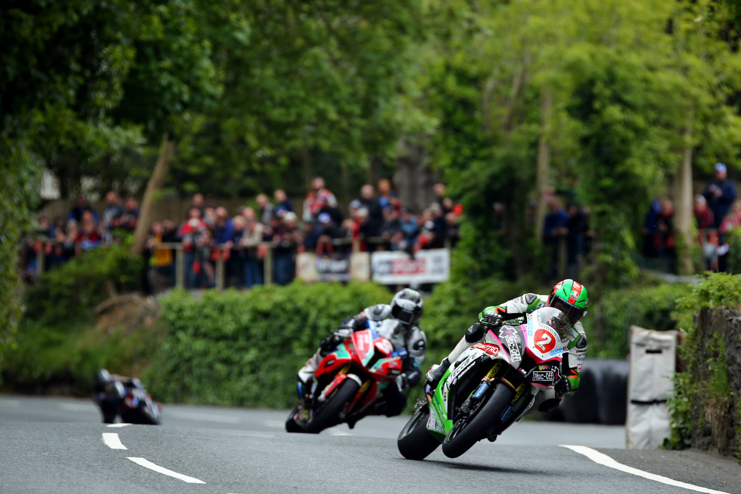 James Hillier leads Michael Dunlop at Union Mills