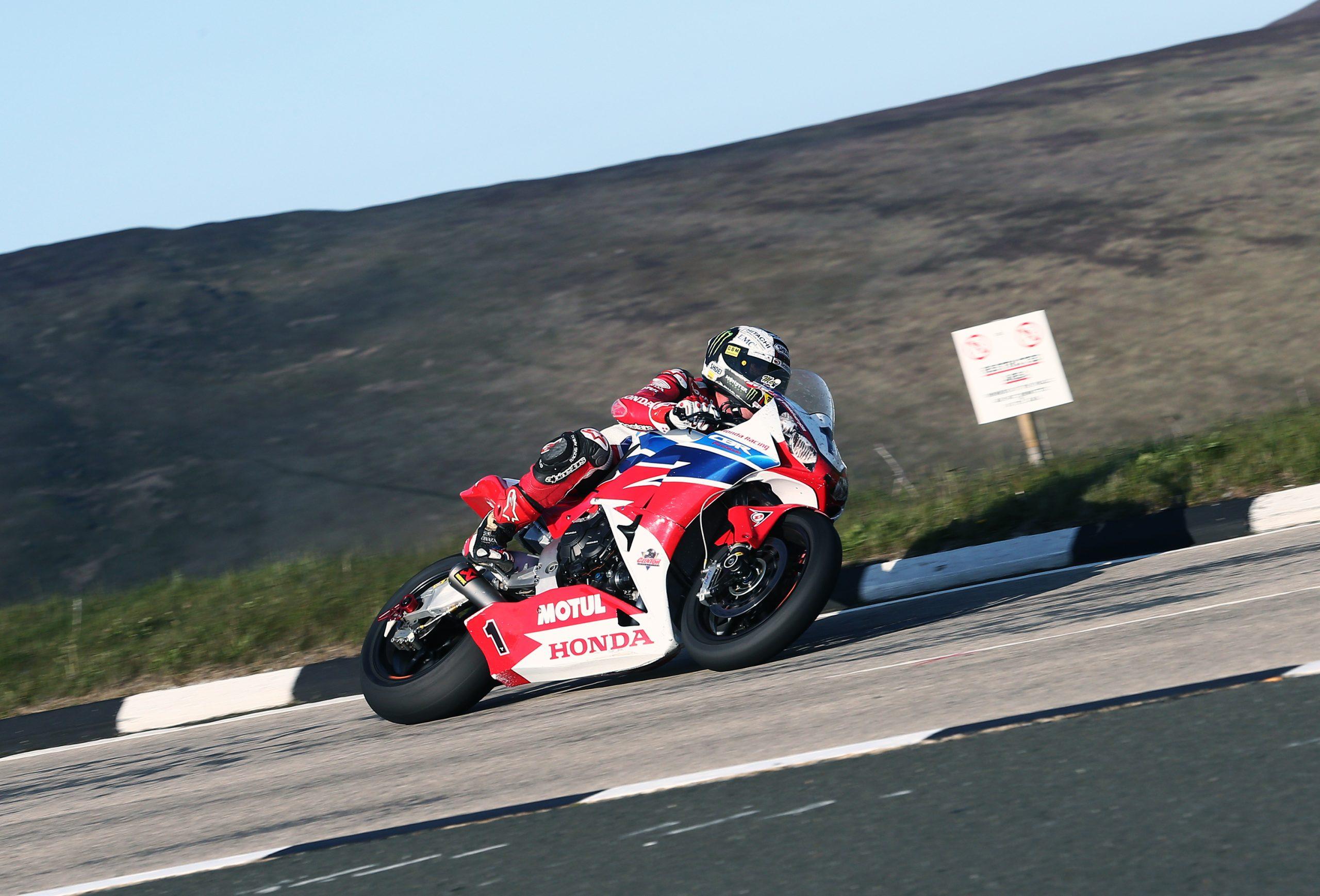 John McGuinness racing at Isle of Man TT