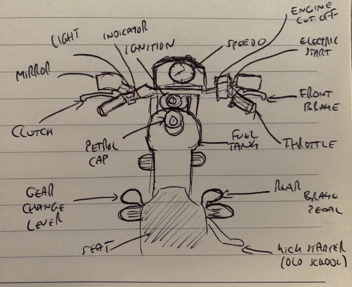Motorbike controls sketch
