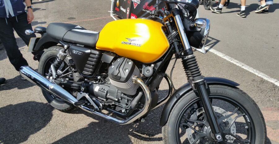 Yellow Moto Guzzi