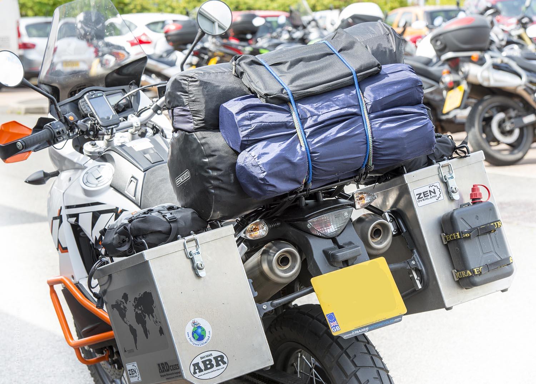 Bike carrying luggage