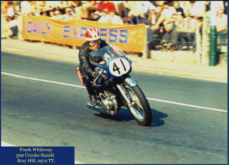 motorcyclist Frank Whiteway