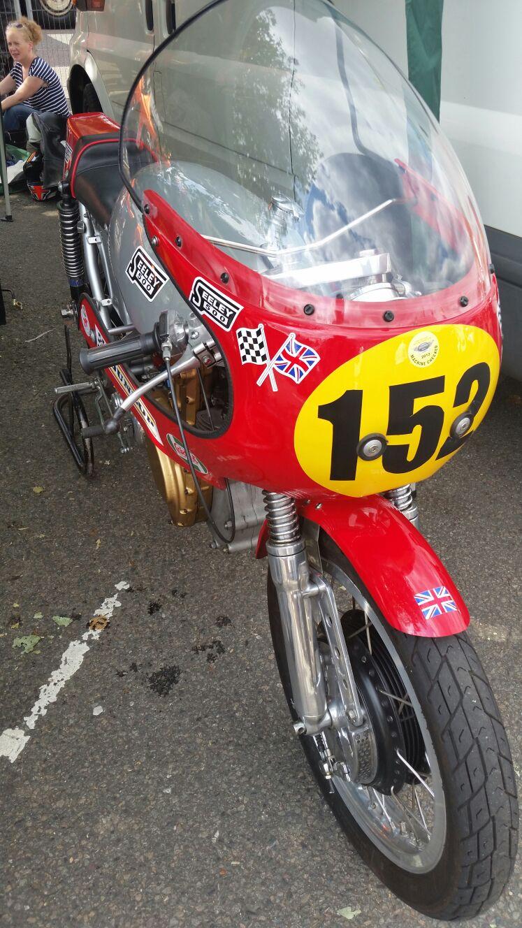 Classic racing motorcycle