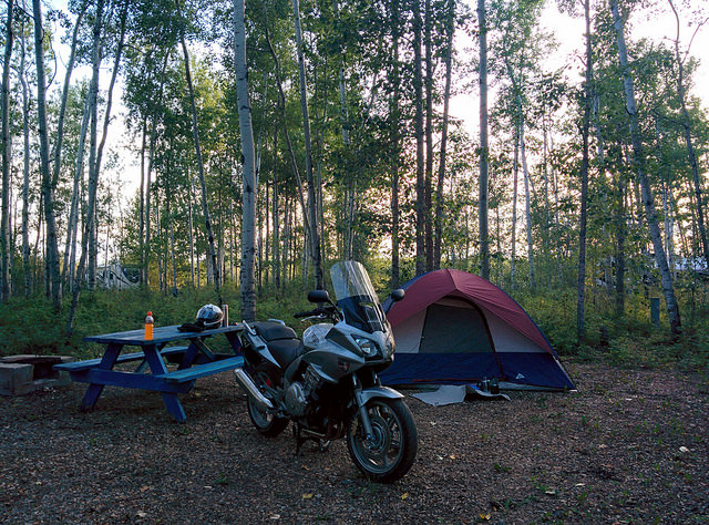 Motorcycle Camping Credit: Flickr Anson Chappell