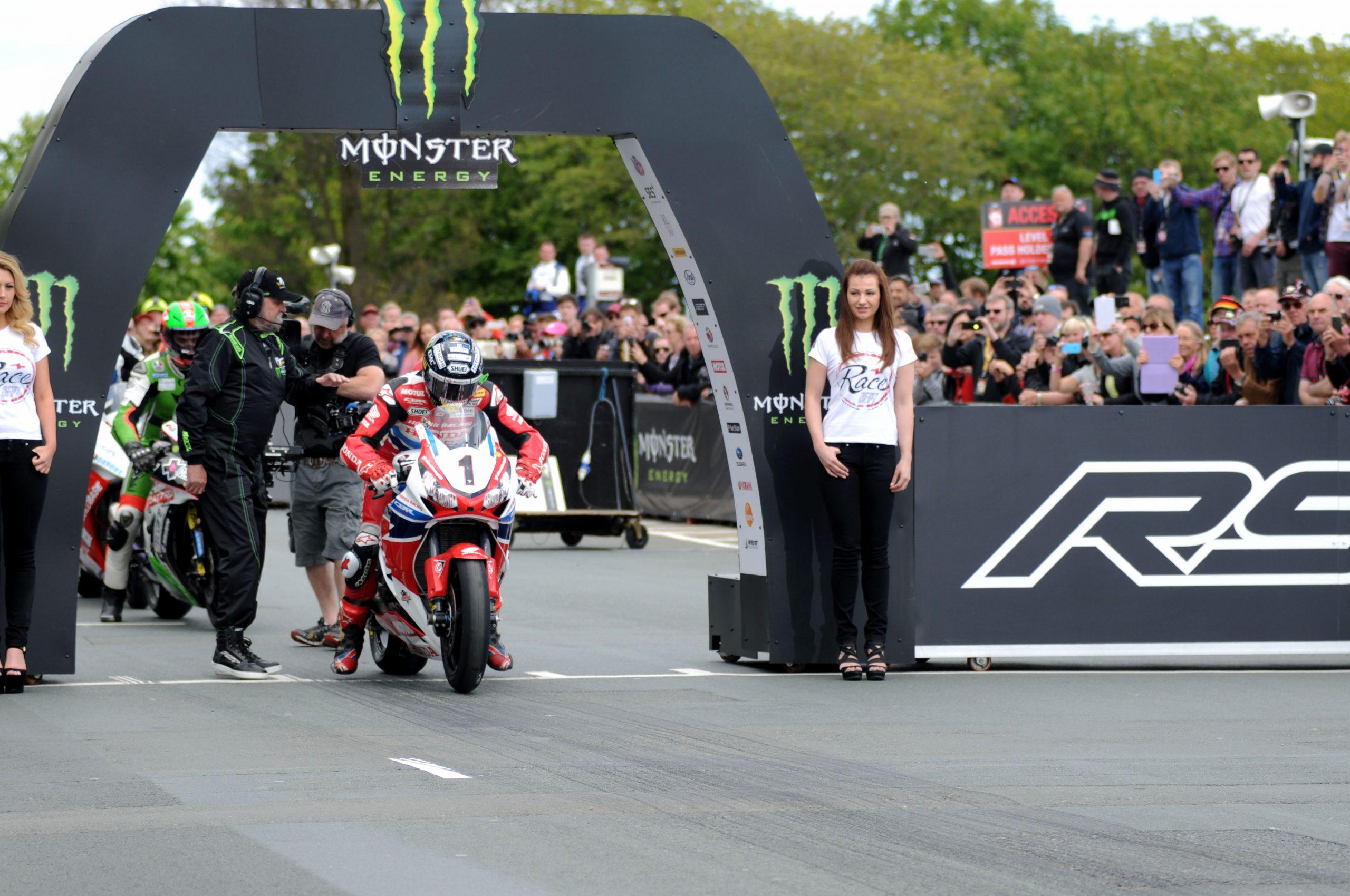 John McGuiness TT start line