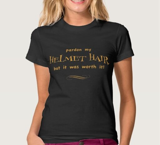 Helmet Hair T Shirt