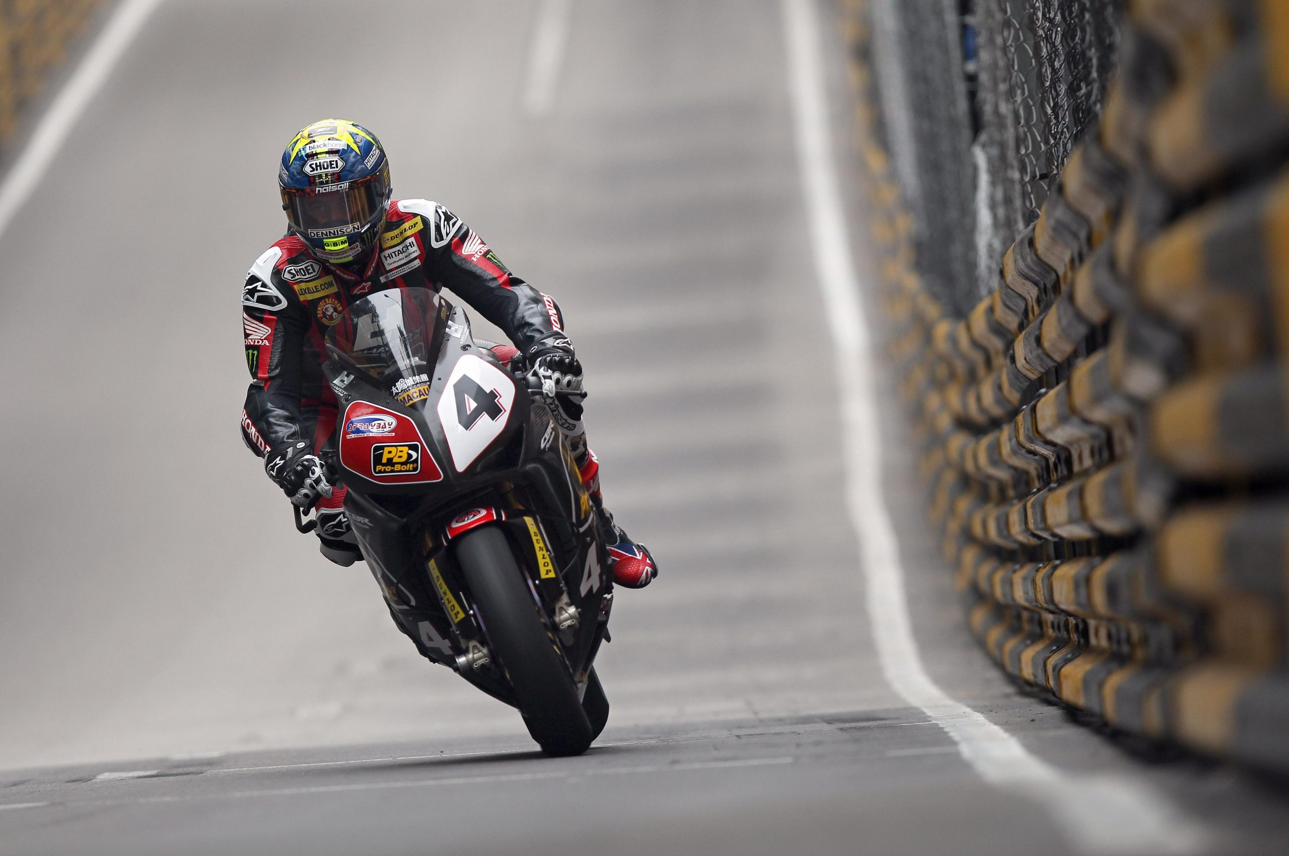 John McGuinness - Macau 2014 image by Stephen Davison - Pacemaker Press International