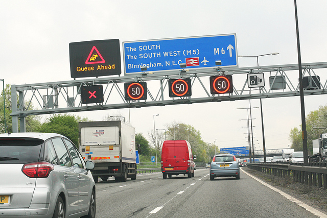 image from Highways England Gantry Sign 1