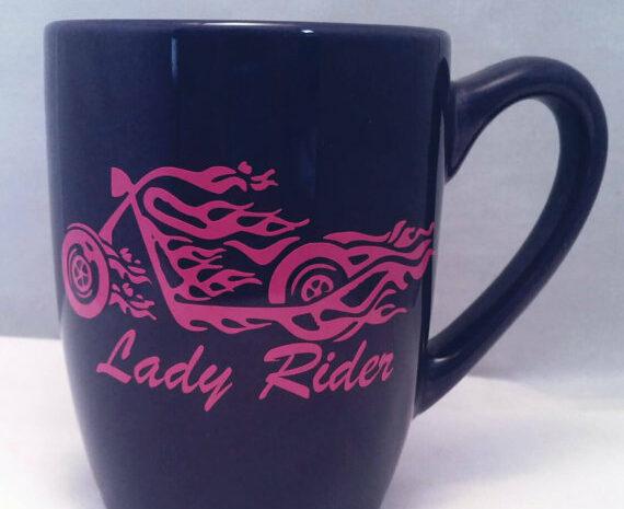 lady rider mug
