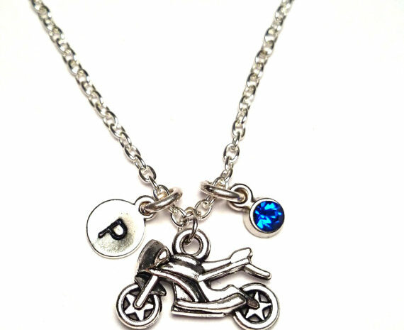 motorcycle charm necklace