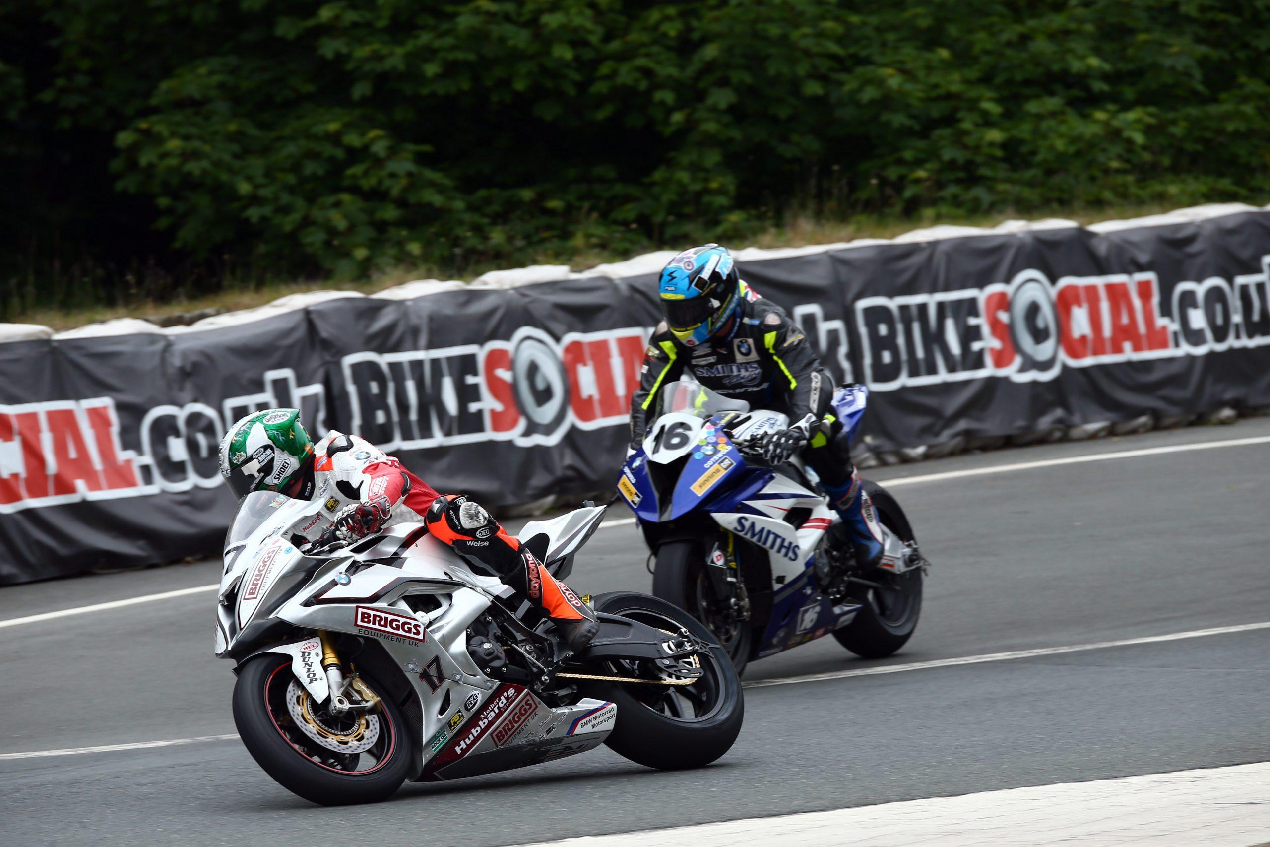 Peter Hickmand and David Johnson at the TT