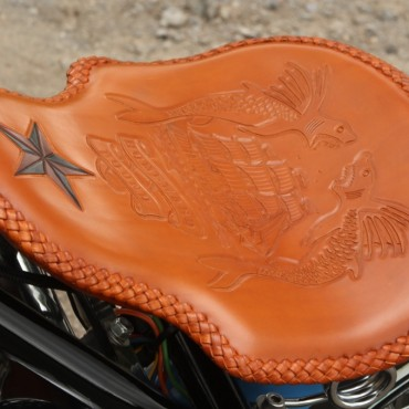 Custom leather seat work