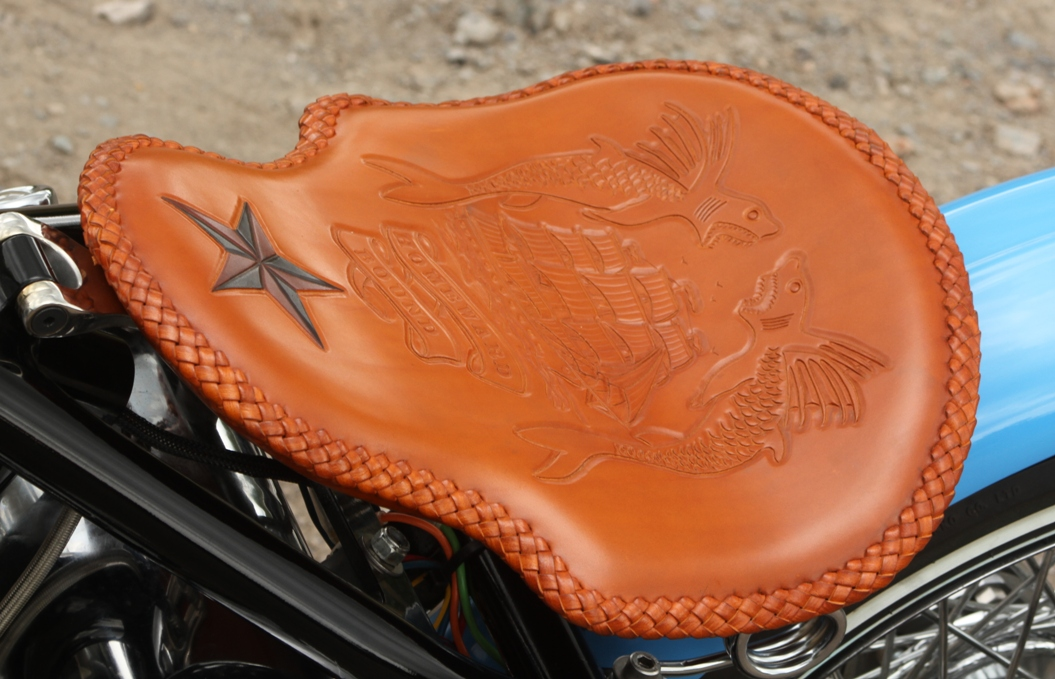 custom seat on motorcycle