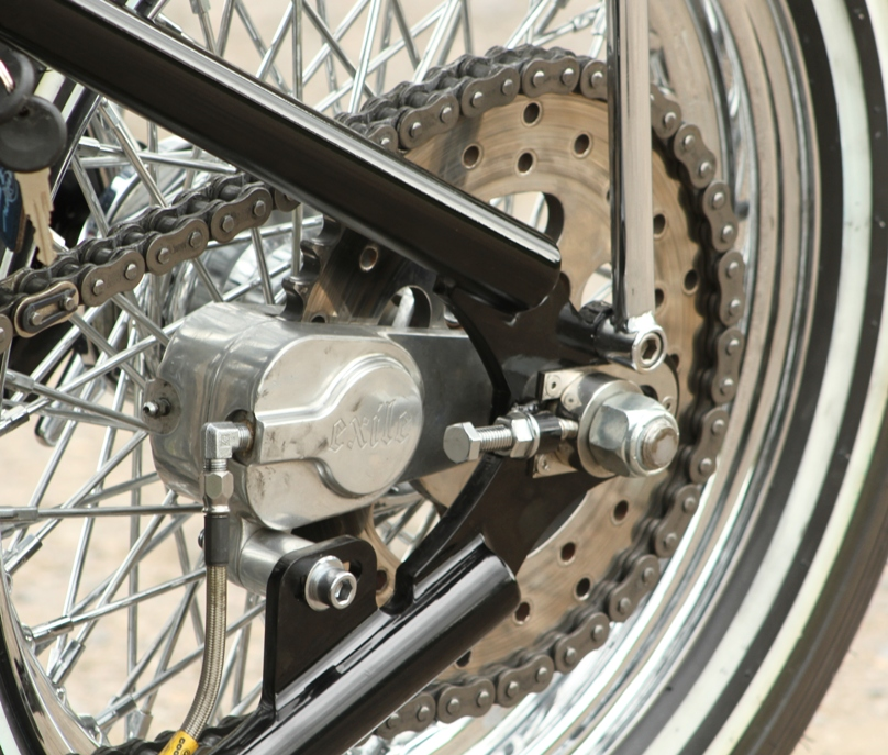 Sprocket brake motorcycle