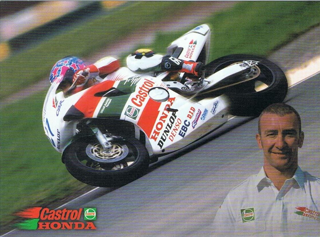 British motorcycle racers Jim Moodie