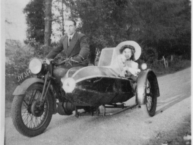 Mr Lewis & sidecar