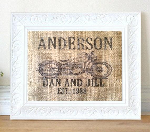 personalised motorcycle print