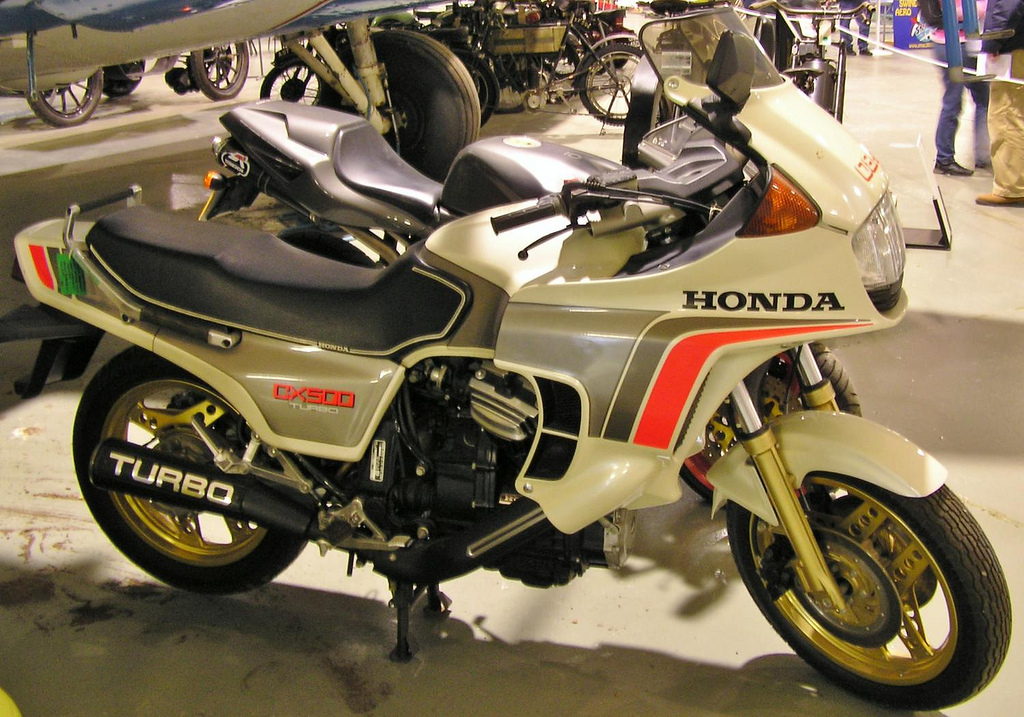 The first production motorcycle with fuel injection: The Honda CX500 Turbo credit PSParrot Flickr