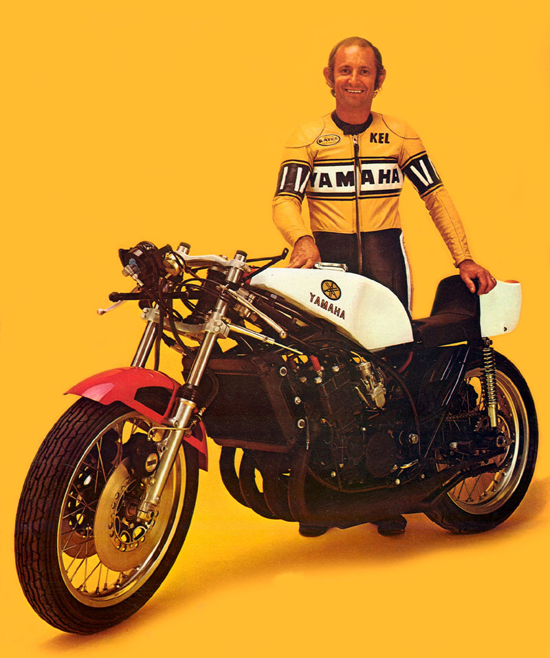 The ultimate two stroke Kel Carruthers and his Yamaha TZ-750A credit Insomnia Cured Here