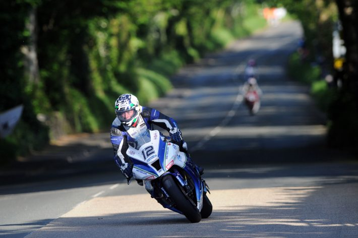 PACEMAKER BELFAST 29/05/14: Dean Harrison on the RC Express Kawasaki superbike at Ballacraine during first qualifying for the 2014 Isle of Man TT