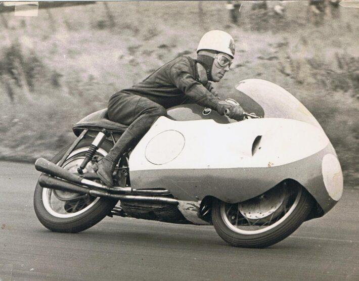 Geoff Duke on the Gilera 500 credit Phil Wain's Family Archive