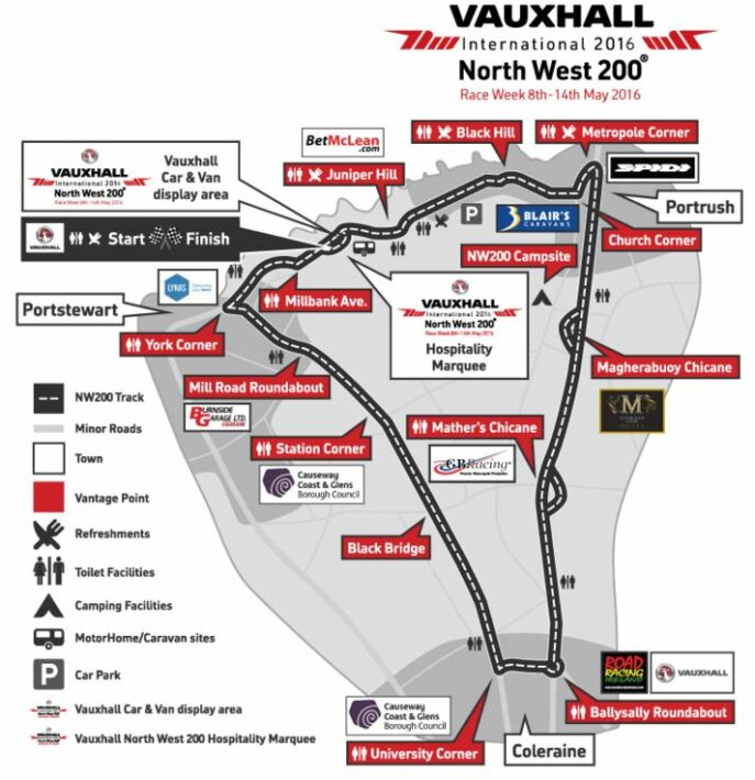 North West 200 Map