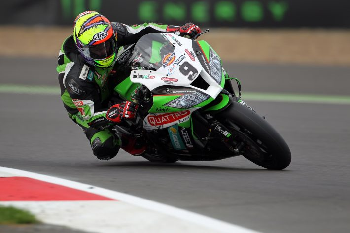 2013 British Superbike Championship, Round 11, Silverstone, UK. 5th October 2013. Chris Walker (GBR) Quattro Plant Kawasaki