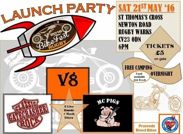Launch Party for the Rugby Bike Fest