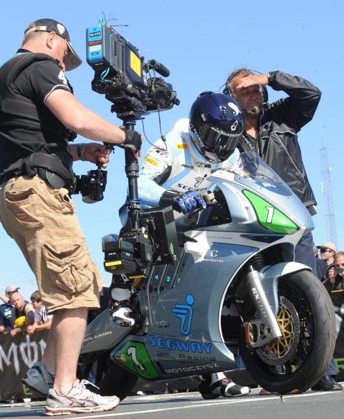 Mark Miller on the Moto Czysz image credit Stephen Davison, Pacemaker Press International