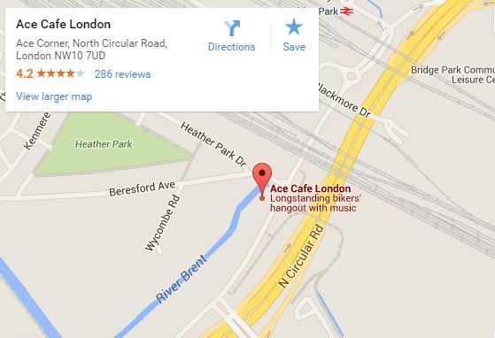 Ace Cafe London map