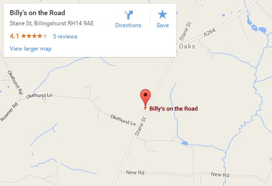 Billys on the Road map