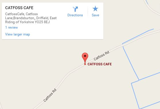 Catfoss Cafe map
