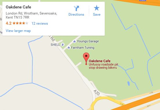 Oakdene Cafe maps