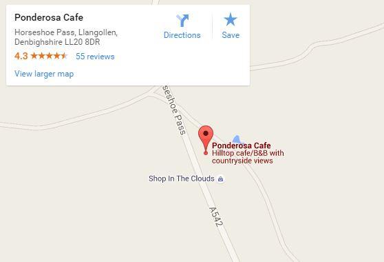 Ponderosa Cafe map