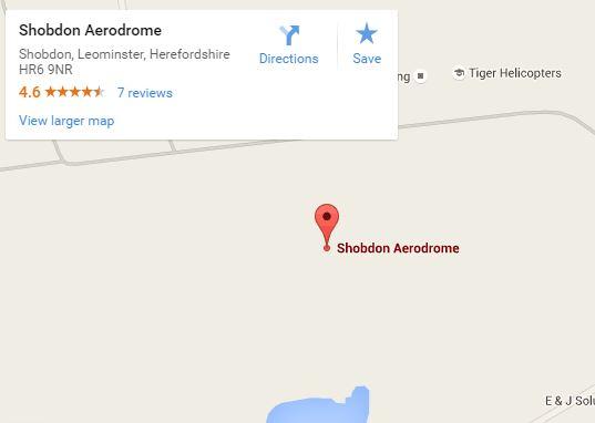 Shobdon Aerodrome map