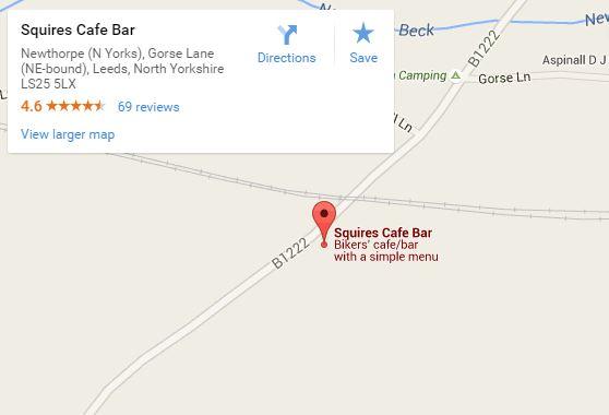 Squires biker cafe map