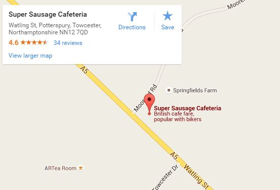 Super Sausage Cafe map