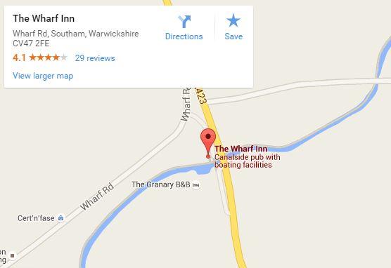 The Wharf inn map