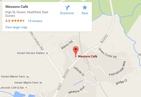 Wessons Cafe map
