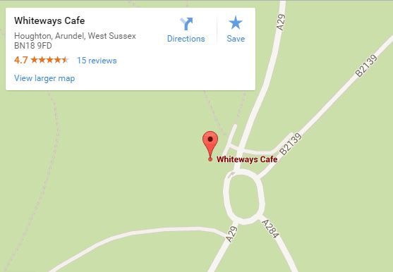Whiteways cafe map